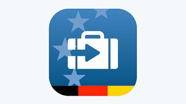 """Logo der App """"Zoll und Reise"""""""